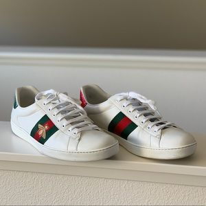 Gucci Ace Embroidered Sneakers with bee